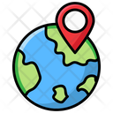 Global Location Global Direction Global Navigation Icon