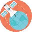 Satellite Navigation Communication Icon