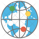 Global Network Connections Icon
