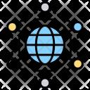 Grid Globe Network Icon