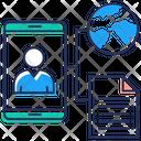 Global Network Information Sharing Data Sharing Icon