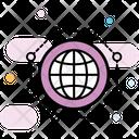 Grid Globe Global Network Communication Network Icon