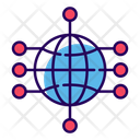 Global Network Global Marketing Global Connection Icon