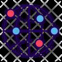Global Network Www Global Communication Icon