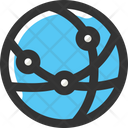 Global Networkv Global Network International Connection Icon