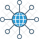 Global Network Global Global Hierarchy Icon