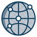 Communication Network Global Network Worldwide Network Icon