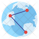 Global Network International Network Global Share Icon