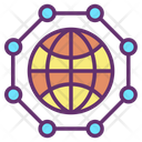 Eart Networkm Global Network Global Communication Icon