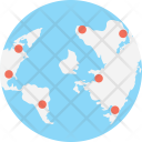 Global Network Planet Icon