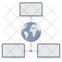 Global Network Global Communication Global Connection Icon