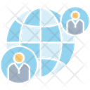 Network Globe People Icon