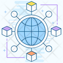 Global Network Global Communication Collaboration Icon