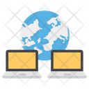 Global Network International Data Worldwide Information Icon