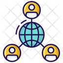 Global Network Worldwide Network Affiliate Network Icon