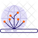 Global Network Globe Connection Icon
