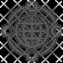 Global Network Worldwide Network International Network Icon