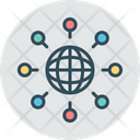 Global Network World Network Connection Icon