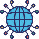 Global Network Globe Global Connections Icon