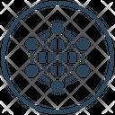 Big Data Global Network Icon