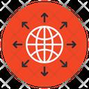 Global Network Worldwide Network Global Connectivity Icon