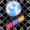 Global Network Global Connection Worldwide Network Icon