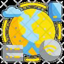 Global Network Global Server World Icon