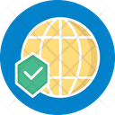 Global Network Cyber Security Network Firewall Icon