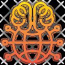 Global Network Global Brain Icon