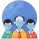 Global Network Team Group Icon