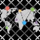 Global Network Globe Icon