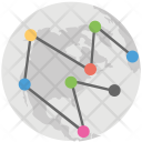 Global Network Mesh Icon