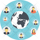 Global Communication Social Icon