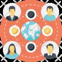 Globe Network People Icon