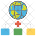Global Network of Servers Icon