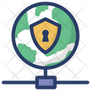 Global Network Security Icon