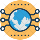 Global network technology Icon