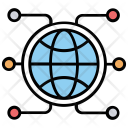Global Networking Connections Icon