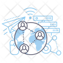 Button Global Networking Cooperation Icon
