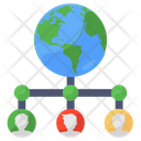 Global Networking Global Structure Team Network Icon