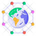 Global Connections Global Networking Global Technology Icon