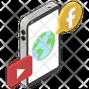 Social Media Global News Online News Icon