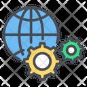 Global Optimization Global Internet Icon