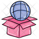 Global Package Global Parcel Global Delivery Icon