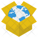 Global Parcel Worldwide Delivery Delivery Box Icon