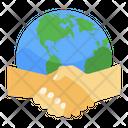 Global Partnership Global Handshake Global Handclasp Icon