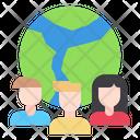 People Earth Global Icon