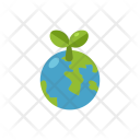 Planet Global Green Icon