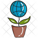 Global Plant Plant Growth Potted Plant Icon