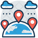 Travel Distance Global Icon